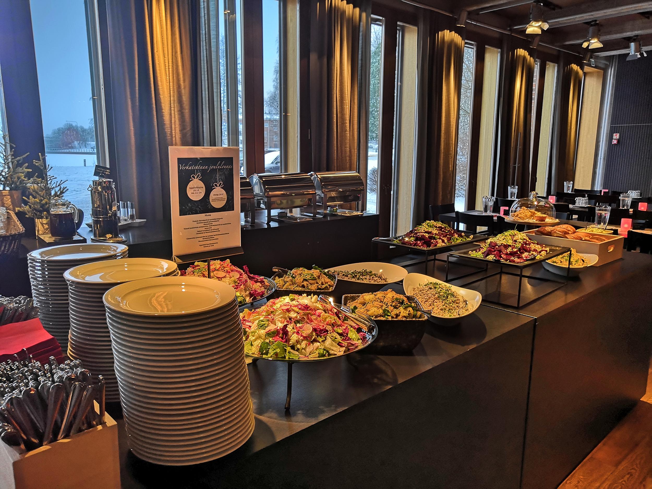 Tarjoilupöytä, Verkatehtaan ravintola
